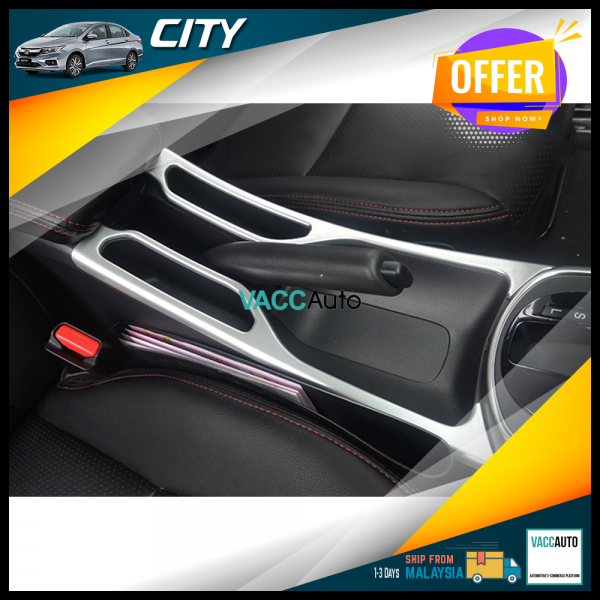 City (6th Gen) Center Console Silver Lining