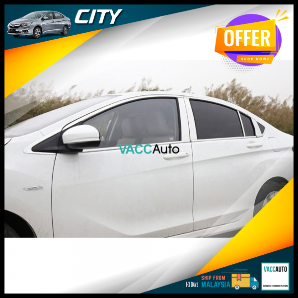 City (6th Gen) Window Chrome Lining + Door Pillar