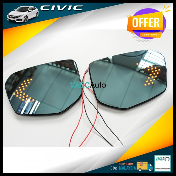 Civic (10th Gen) Blue Mirror with LED Signal