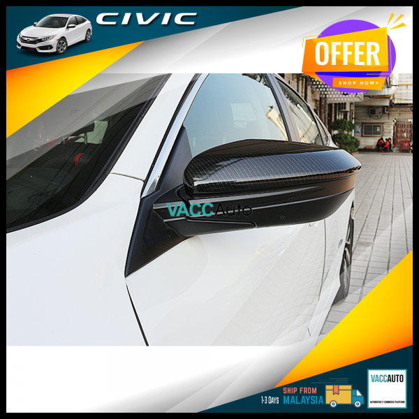 Civic (10th Gen) Side Mirror Carbon Cover