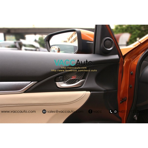 Civic (10th Gen) Inner Handle Carbon Protector (Si...