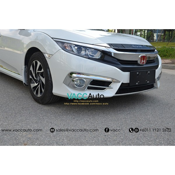 Civic (10th Gen) Fog Lamp Full Chrome Cover
