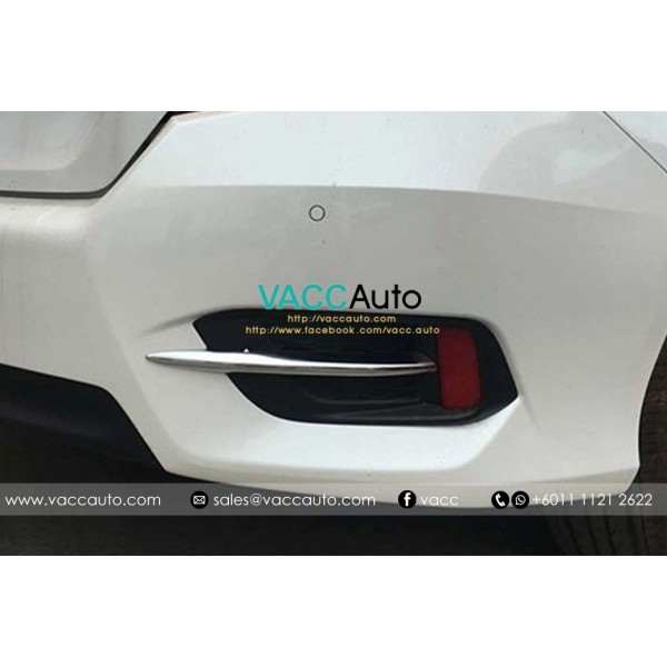 Civic (10th Gen) Rear Reflection Chrome Lining