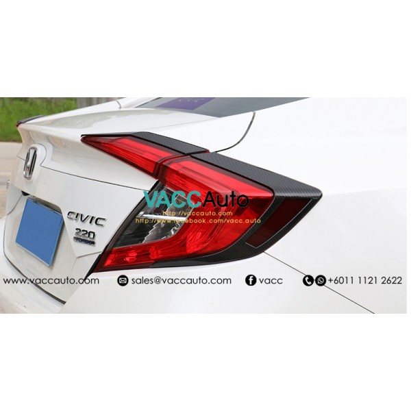 Civic (10th Gen) Tail Lamp Carbon Lining