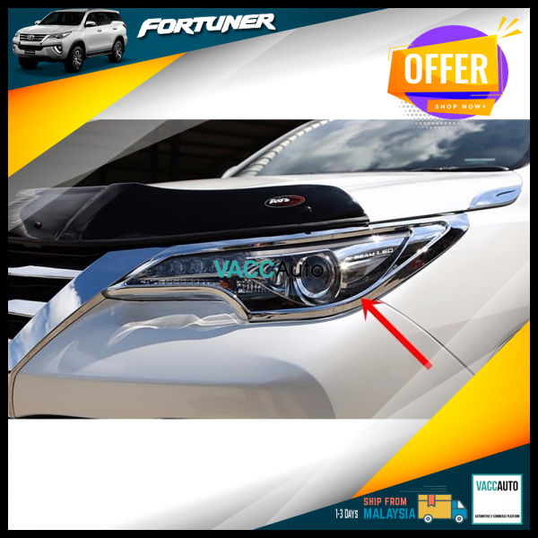 Fortuner (2nd Gen) Head Lamp Chrome Cover