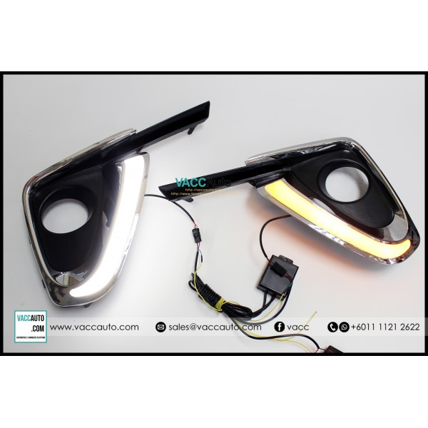 Fortuner (2nd Gen) Fog Lamp Chrome Cover with Day ...