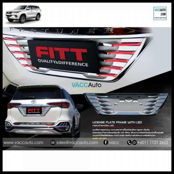 Fortuner (2nd Gen) Rear Plate LED