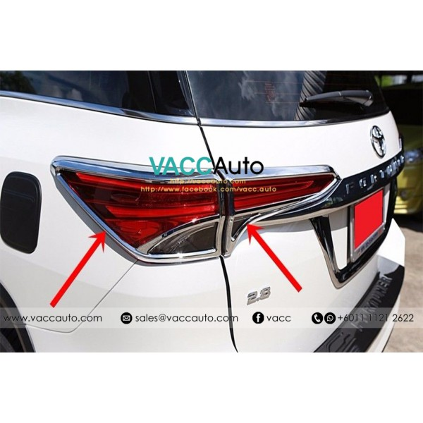 Fortuner (2nd Gen) Tail Lamp Chrome Cover
