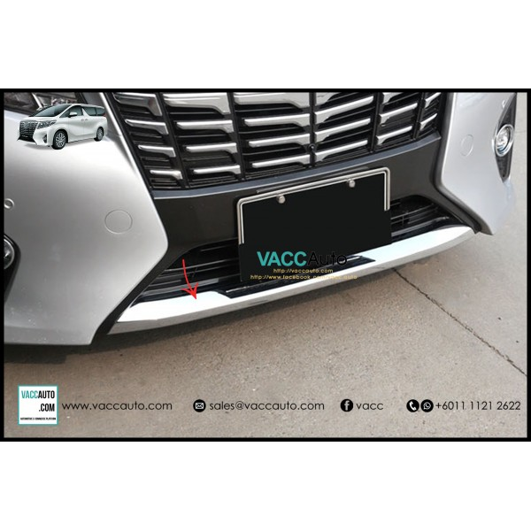 Alphard (AH30) Front Bumper Lower Chrome Bar