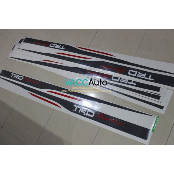 Vios (2nd Gen) TRD Sportivo Car Body Sticker