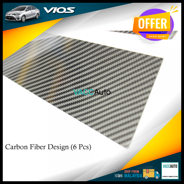 Toyota Vios 2013 - 2018 Door Pillar Carbon Fiber Design (PC)