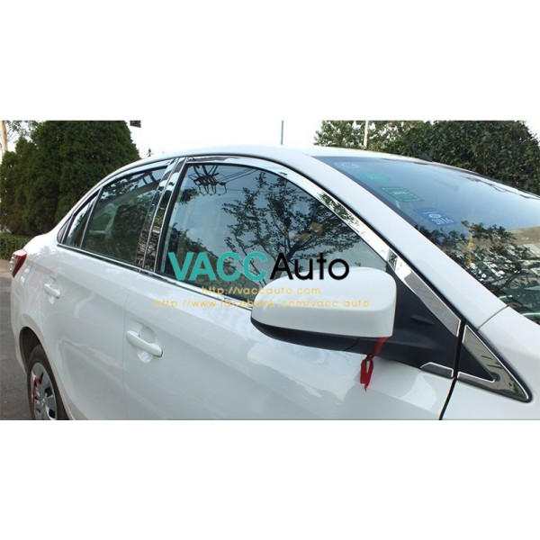 Vios (3rd Gen) Window Lining + Door Pillar Chrome