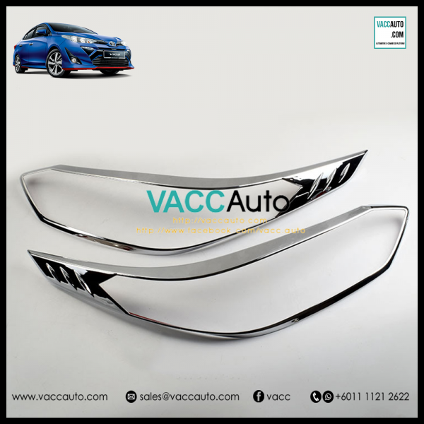 Toyota Vios 2019 Head Lamp Chrome Cover
