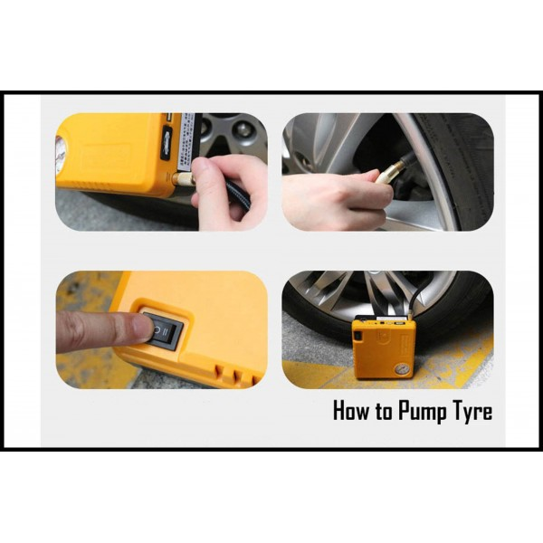 Air Tyre Compressor + Car JUMP Start